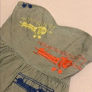 ANTHROPOLOGIE STRAPLESS EMBROIDERED Airplane DRESS